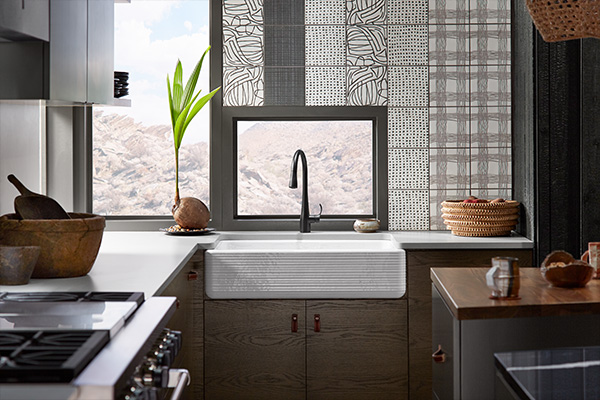 Tribal kitchen design by Stephanie Hollingsworth featuring natural and handcrafted materials